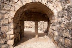 在以色列旅行的古老废墟 免版税库存照片