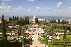 Bahai庭院,海法,以色列 免版税库存照片