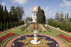 Bahai庭院,海法,以色列 库存图片