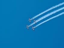 在以色列美国独立日的空中特技飞行以色列人空军队 库存照片