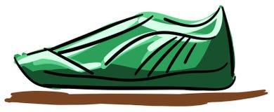 在绿色口气的风格化鞋子 免版税库存图片