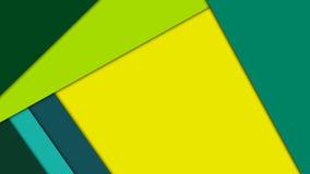 在绿色和黄色颜色的现代物质设计背景 免版税库存图片