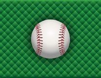 在绿色方格的背景的棒球例证 免版税库存照片