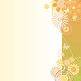 在绿色橙色的花卉背景 向量例证