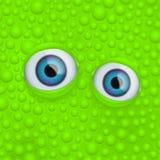 在绿色流体的眼睛 库存图片