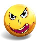 在黄色球的妖怪面孔 免版税库存照片