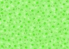 在绿色的不同的绿色污点 库存图片