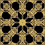 在黑色的亚洲金黄样式 库存例证