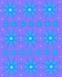 在紫色的几何雪花 免版税图库摄影