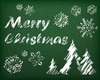 在绿色的圣诞节背景 库存图片