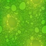 在绿色的复活节无缝的样式 库存图片