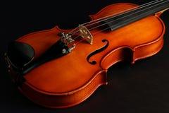 在黑色的小提琴特写镜头 库存图片