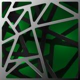 在绿色的抽象数字式碳背景 库存图片
