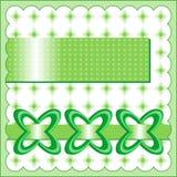 在绿色的时尚卡片 免版税库存照片