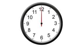 在黑色的时钟 库存例证