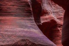 在紫色的槽孔峡谷 图库摄影