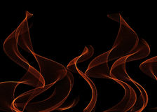 在黑色的火火焰 免版税库存照片