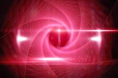 在黑色的红色漩涡设计 图库摄影