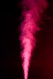 在黑色的红色蒸气 免版税库存图片