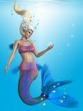 在水色的美人鱼 库存例证