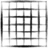 在黑色的被喷洒的栅格难看的东西街道画在白色 图库摄影