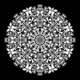 在黑色的装饰圆的样式 免版税库存图片