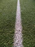 在绿色的足球场草 库存图片