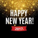 在黑色的金子闪烁新年 库存照片