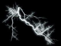 在黑色的闪电 向量例证