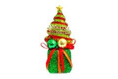 在绿色礼物盒的圣诞树 免版税库存照片