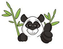 在绿色竹子中的熊猫 向量例证