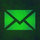 在绿色背景传染媒介的公用电话电路 图库摄影
