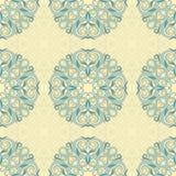 无缝的叶子绿松石样式 免版税图库摄影