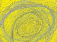 在黄色背景的抽象分数维样式 皇族释放例证