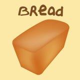 在黄色背景的新近地被烘烤的面包 免版税图库摄影