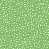 在绿色背景的无缝的抽象叶子茎样式 向量例证