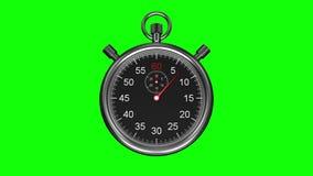 在绿色背景的秒表 向量例证