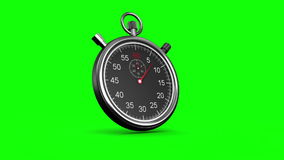 在绿色背景的秒表 皇族释放例证