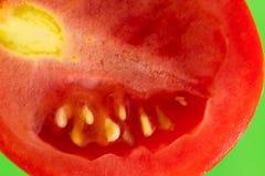 在绿色背景的蕃茄 库存照片