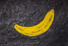 在黑色背景的香蕉 免版税库存照片