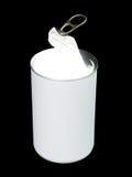 发光的食物罐头 库存照片
