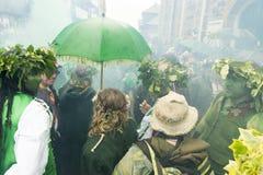在绿色节日的海斯廷斯无线电呼救信号杰克2017年 库存照片