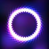 在紫色被弄脏的背景的宇宙框架 图库摄影