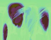 在紫色,蓝色和绿色的浮动椭圆 库存图片