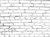 在黑色绘的砖墙 免版税库存照片