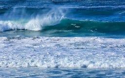 在17英里的波浪推进 库存照片