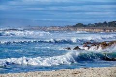 在17英里的波浪推进 免版税库存照片
