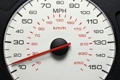 在15英里/小时的车速表 免版税库存照片