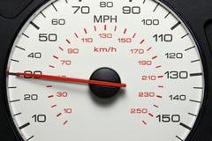 在30英里/小时的车速表 免版税库存图片