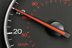 在40英里/小时的车速表 免版税库存图片